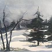 Winter Grey Art Print
