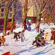 Winter High Bridge Park Art Print