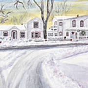 Winter Holidays In Dixboro Mi Art Print