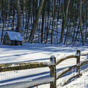 Winter Hut Art Print