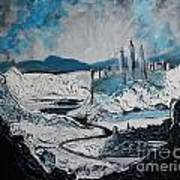Winter In Ancient Ruins Art Print