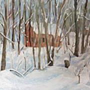 Winter In Campton New Hampshire Art Print