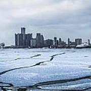 Winter In Detroit  Art Print