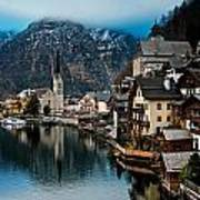 Winter In Hallstatt Art Print