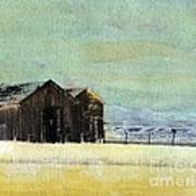 Winter In Montana Art Print
