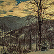 Winter In Mountains Art Print