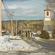 Winter In Round Pond Maine Art Print
