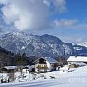 winter in the Bavarian alps 1 Art Print