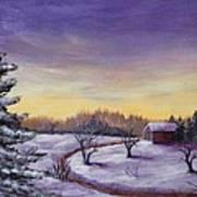 Winter In Vermont Art Print by Anastasiya Malakhova