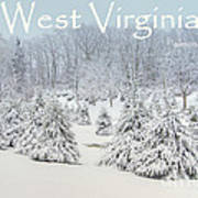 Winter In West Virginia Print by Benanne Stiens