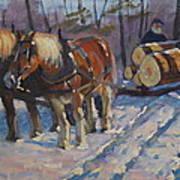 Winter Logging Art Print