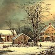 Winter Morning 1863 Art Print