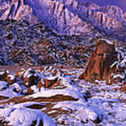Winter Morning Alabama Hills And Eastern Sierras Art Print
