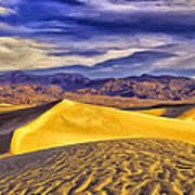 Winter Morning At Death Valley Art Print