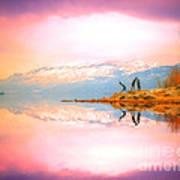 Winter Morning At Okanagan Lake Art Print