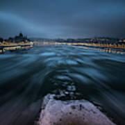 Winter Morning In Budapest Art Print