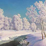 Winter Morning In Engadine Art Print