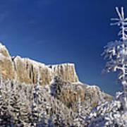 Winter Mountain Landscape Art Print