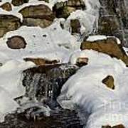 Winter Mountain Stream Art Print