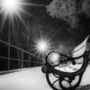Winter Night Along The River Art Print
