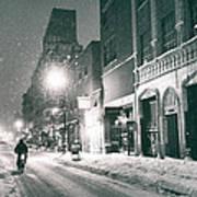 Winter Night - New York City - Lower East Side Art Print by Vivienne Gucwa