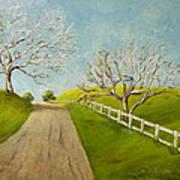Winter Oaks Art Print