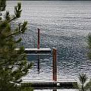 Winter On Lake Coeur D' Alene Art Print