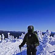 Winter On Mt Jackson Art Print
