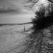 Winter On The Beach  Art Print