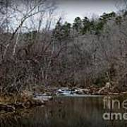 Winter On The Eno River At Fews Ford Art Print