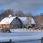 Winter On The Farm 14586 Art Print