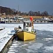 Winter On The Sea Side In Denmark Art Print