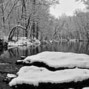 Winter On The Wissahickon Creek Art Print