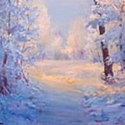 Winter Path. Art Print