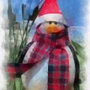 Winter Penguin Photo Art Art Print