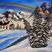 Winter Rainbow Art Print