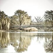 Winter Reflection Landscape Art Print