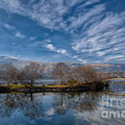 Winter Reflections Art Print by Adrian Evans