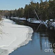 Winter River I Art Print