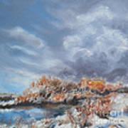 Winter River Art Print