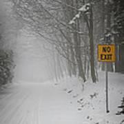 Winter Road During Snowfall I Art Print