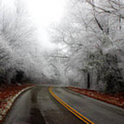 Winter Road Trip Art Print