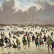 Winter Scene Circa 1859 Art Print by Aged Pixel
