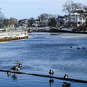 Winter Scene Jersey Shore Town Art Print