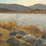 Winter Shoreline Rockland Lake Art Print