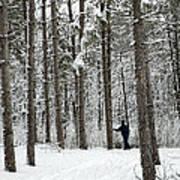Winter Ski Art Print