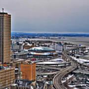 Winter Skyway Downtown Buffalo Ny Art Print