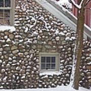 Winter Stone Pattern Art Print