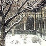 Winter Storm At The Cloisters 3 Art Print