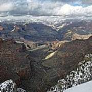 Winter Storm At The Grand Canyon Art Print